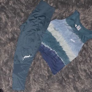 Blue Tie Dye Pink outfit
